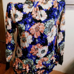BL-002 Long Sleeves Floral Blouse